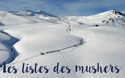 Les mushers de La Grande Odyssée Savoie Mont Blanc 2021
