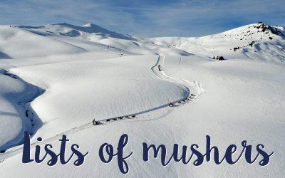 Mushers of La Grande Odyssée Savoie Mont Blanc 2021