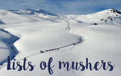 THE OFFICIAL LIST OF MUSHERS 2022 IS UNVEILED…